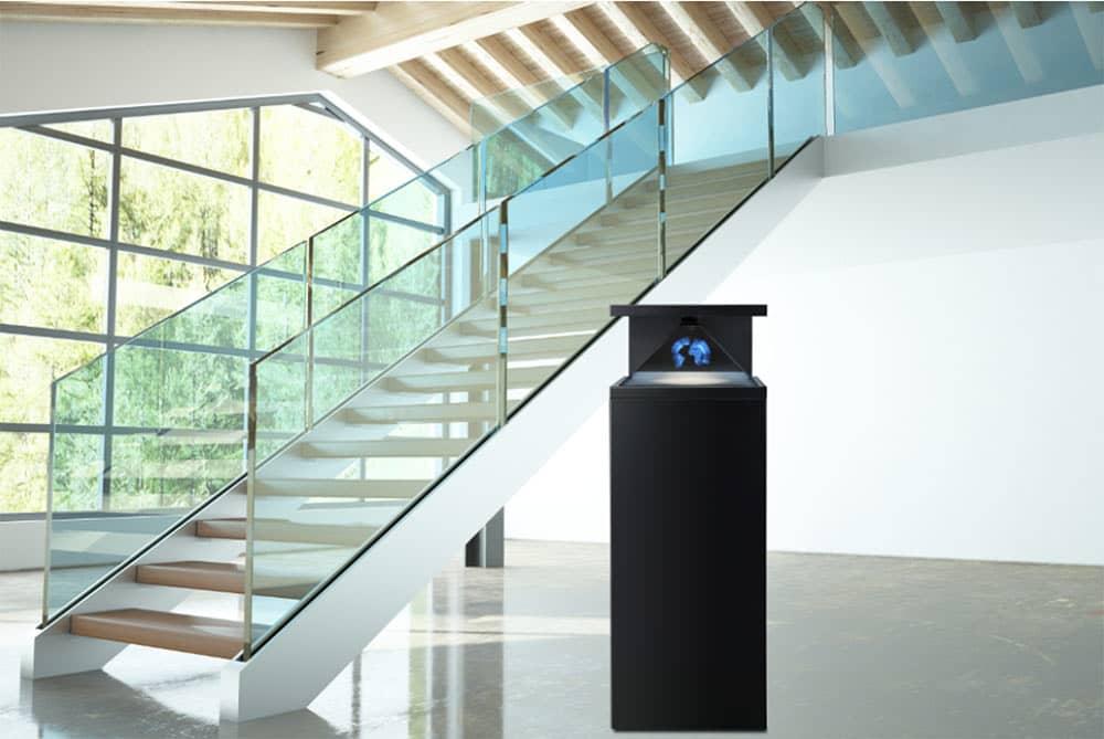 hologramm technologie Erdkugel blau strahlend - DREAMOC HD3