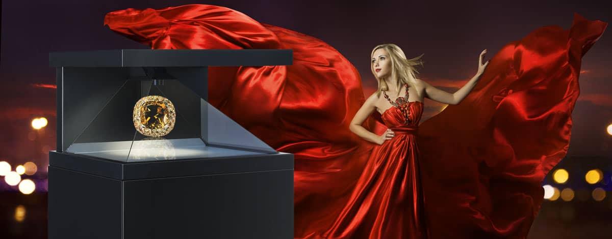hologramm technologie edles Kleid und Edelstein - DREAMOC HD3