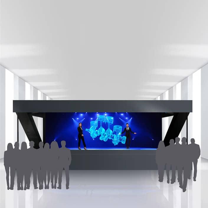 Holographisches Display Individueller Bühnenaufbau