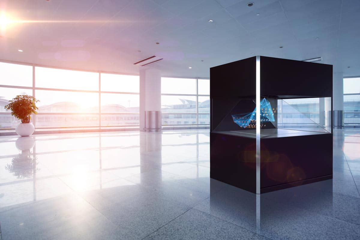 Holo Display Dreamoc XXL 180 Ausstellung Lobby