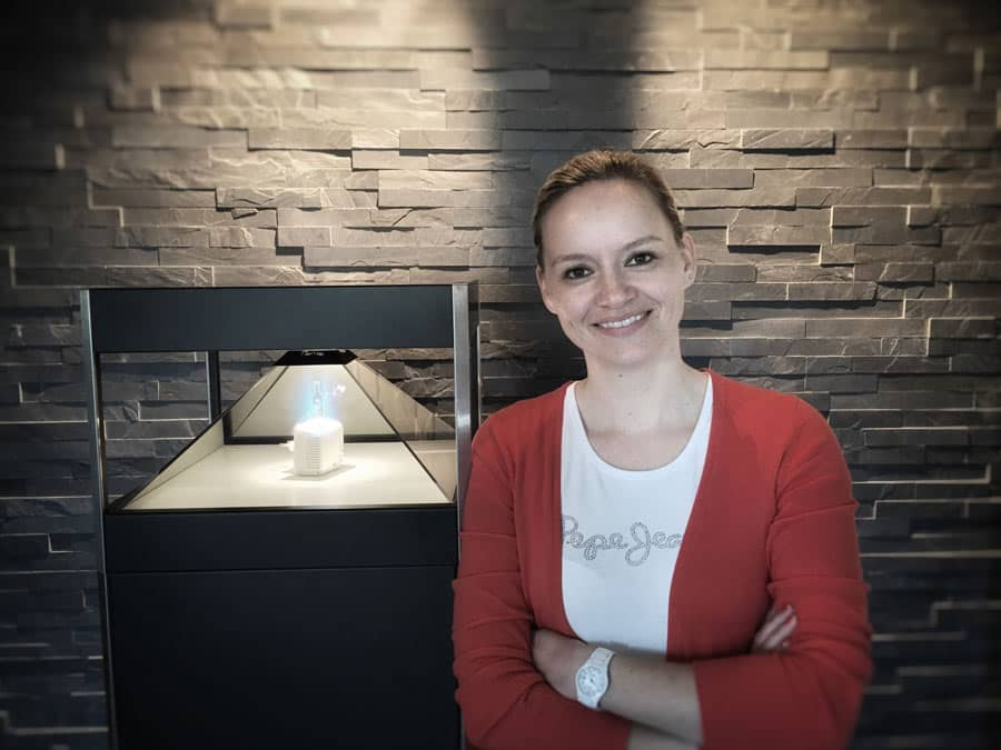 Katja Mangold vor Dreamoc 360