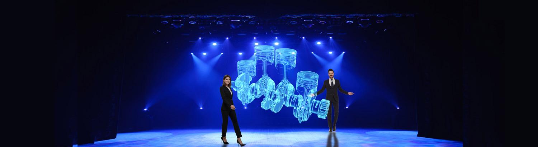 Hologramm Bühne Hologramm Show