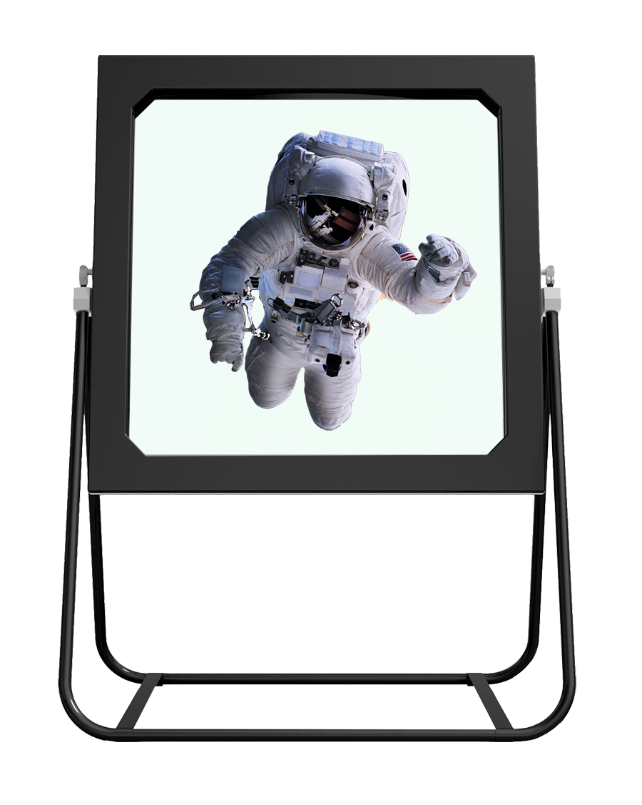 Deep Frame Augmented Reality Display mit Astronaut