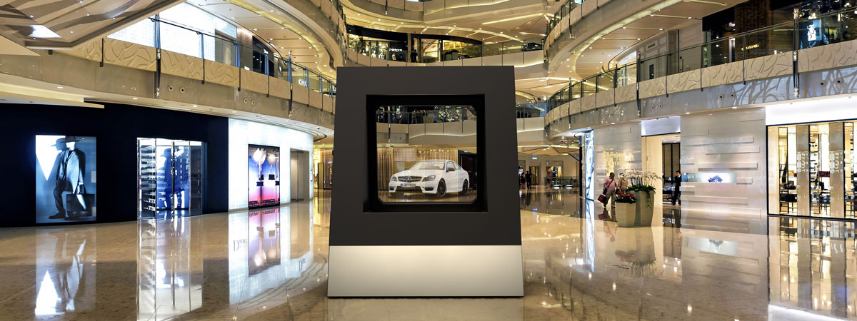 augmented reality display Car shopping mall