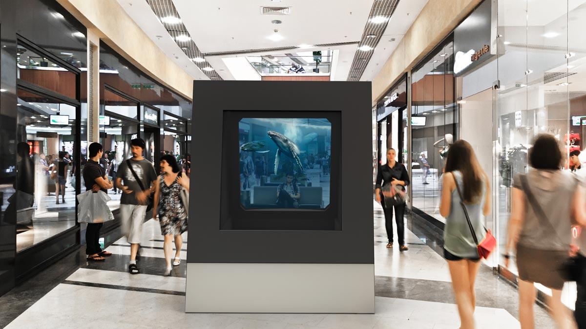 Deep Frame Shopping Mall Einkaufszentrum Wale