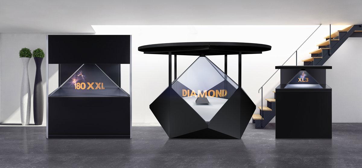 Hologramm Display Dreamoc Varianten
