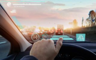 Head-up-Display im Auto