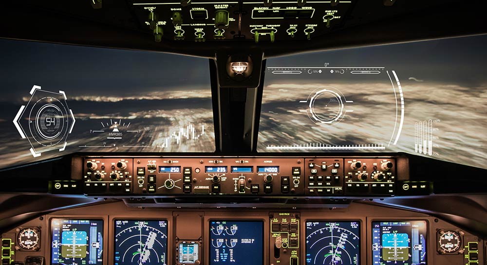 Head-up-Displays im Flugzeug