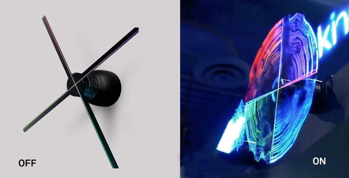 Hologram fan HYPERVSN  The eyecatcher  Hire/ buy